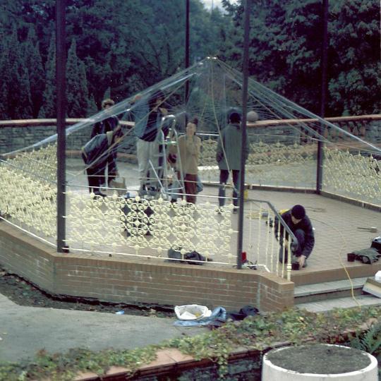 Bandstand Harp - install