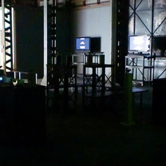 installing exhibition image