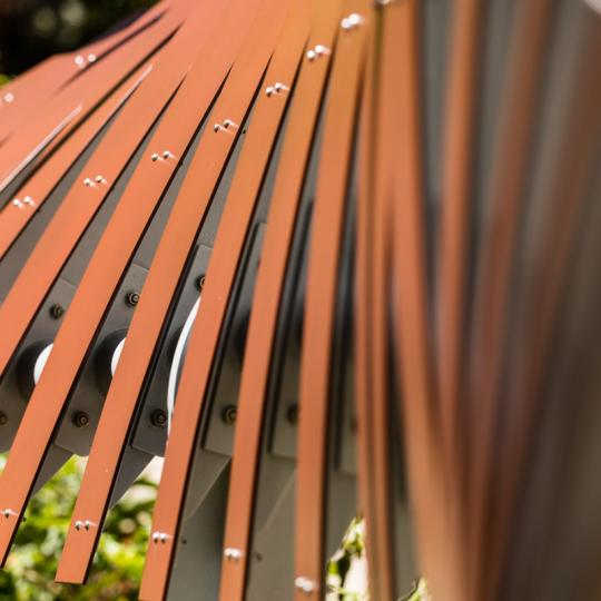 KINDRED FENCE LINE DESIGNED BY DAVISTHOMAS, FABRICATED BY REGSON FABRICATION