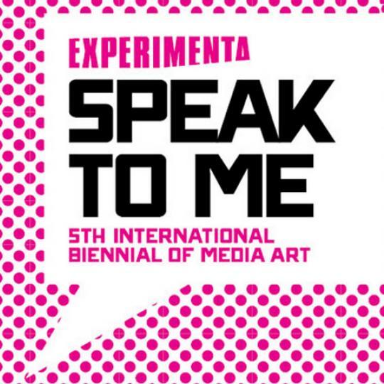 Experimenta - Speak to me exhibition logo